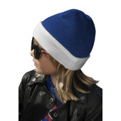 Two-tone kids' turn-up beanie