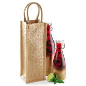 Shimmer Jute Bottle Bag