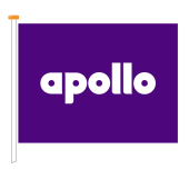 Flag Apollo, size 200x150 cm, purple