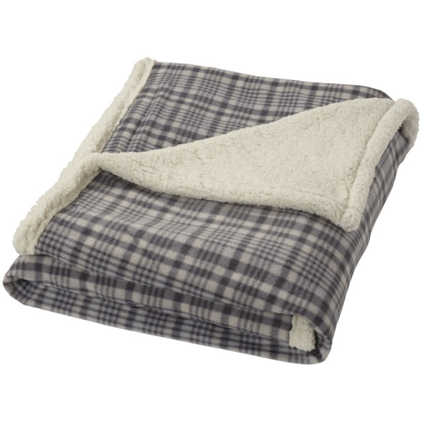 Joan sherpa plaid deken