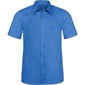 Ace - heren overhemd korte mouwen light royal blue m