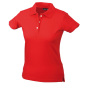 Ladies' Elastic Piqué Polo rood