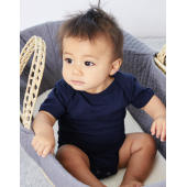 Baby Jersey Short Sleeve One Piece - Dark Grey Heather