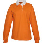 Damesrugbypolo orange s