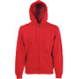 Classic hooded sweat jacket (62-062-0) red m
