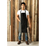Contrast bib apron burgundy / natural one size