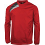 Regensweater sporty red / black / storm grey xs