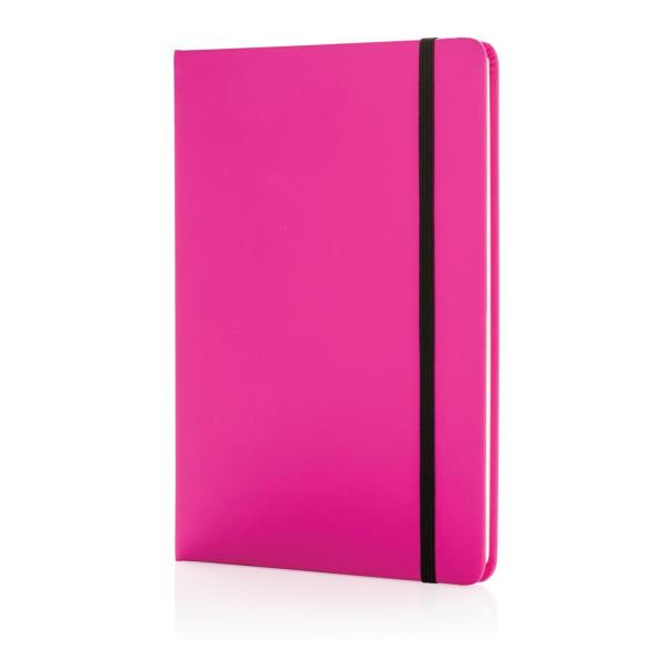 A5 basic hardcover PU notitieboek, roze