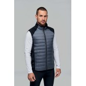 Dual-fabric sleeveless sports jacket