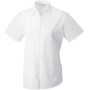 Ladies' ss pure cotton easy care poplin shirt white xl