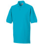 Men's classic cotton polo turquoise l