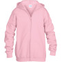 Heavy blend™classic fit youth full zip hooded sweatshirt light pink 12/14 (xl)