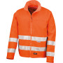 High-viz soft shell jacket safety orange l