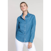 Damesblouse chambray