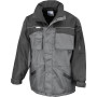 Heavy duty combo coat grey / black l