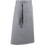 'colours' bar apron silver one size