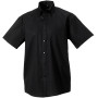 Men's short sleeve ultimate non-iron shirt black xxl