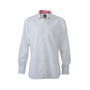 Men's Plain Shirt wit/rood-wit