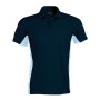 Flag - tweekleurige polo navy / sky blue xxl