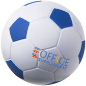 Football anti-stress bal - Wit,koningsblauw
