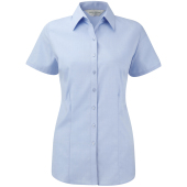 Ladies' short-sleeved herringbone shirt