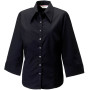 Ladies' 3/4 sleeve tencel® fitted shirt black xs