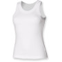Ladies tank vest white s