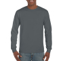 Gildan T-shirt Ultra Cotton LS charcoal M