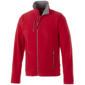 Pitch fleece heren jas met ritssluiting
