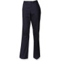 Ladies flat front chino trousers navy l (14 uk)