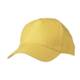 5 Panel Promo Cap Lightly Laminated goudgeel