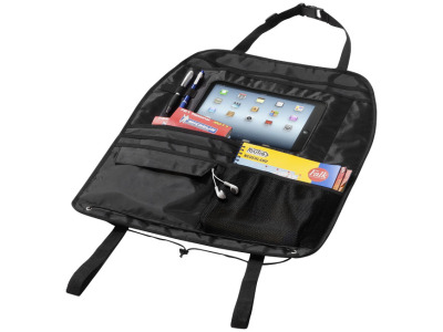 Back seat organizer met tabletcompartiment