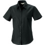 Ladies short sleeve easy care oxford shirt black s