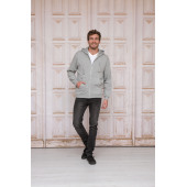 L&S Hooded Sweatshirt Cardigan Basic