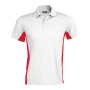 Flag - tweekleurige polo white / red l