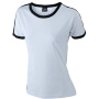 Ladies` Flag-T wit/zwart