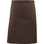 'colours' mid length apron brown one size