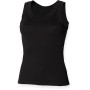 Ladies tank vest black l